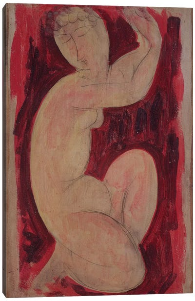 Red Caryatid, 1913  Canvas Art Print
