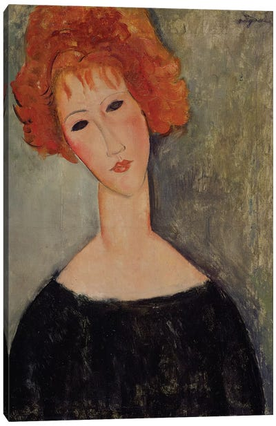 Red Head  Canvas Art Print