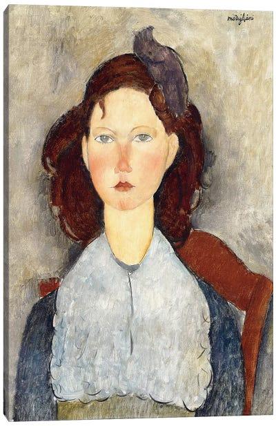 Seated girl, 1918  Canvas Art Print