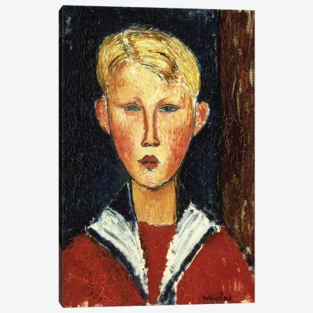 The Blue-Eyed Boy, 1916  Canvas Print #BMN9019} by Amedeo Modigliani Canvas Artwork