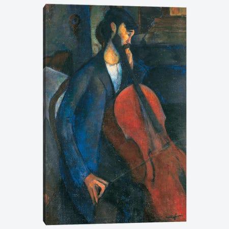 The Cellist, 1909  Canvas Print #BMN9021} by Amedeo Modigliani Canvas Art Print