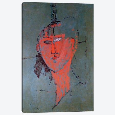 The Red Head, c.1915  Canvas Print #BMN9023} by Amedeo Modigliani Art Print