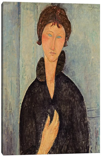 Woman with Blue Eyes, c.1918  Canvas Art Print