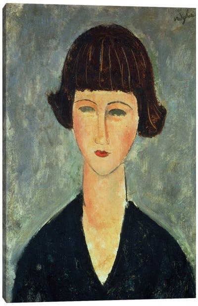 Young Brunette, 1917  Canvas Art Print