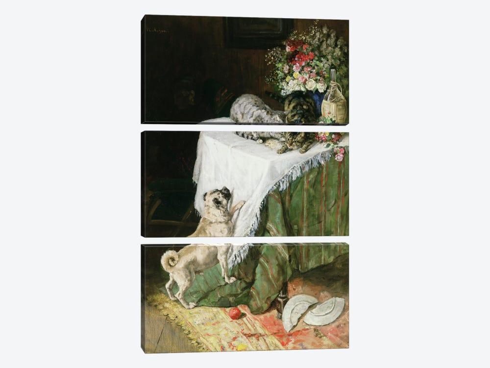 The Mischievous Tabbies by Clemence Nielssen 3-piece Art Print