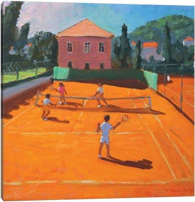 Clay Court Tennis, Lapad, Croatia Canvas Art Print