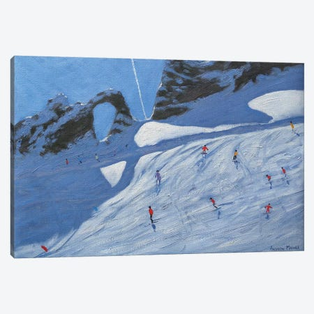 L'Aiguille Percee, Tignes Canvas Print #BMN9045} by Andrew Macara Canvas Wall Art