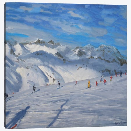 Mountain Tops, Tignes Canvas Print #BMN9049} by Andrew Macara Canvas Art Print