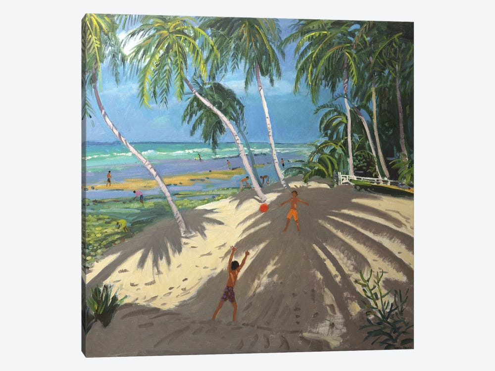 Palm Trees, Clovelly Beach, Barbados by Andrew Macara 1-piece Art Print