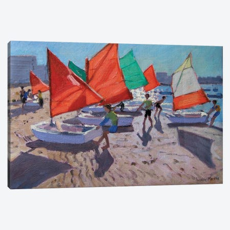 Red Sails, Royan, France Canvas Print #BMN9051} by Andrew Macara Canvas Art