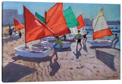 Red Sails, Royan, France Canvas Art Print