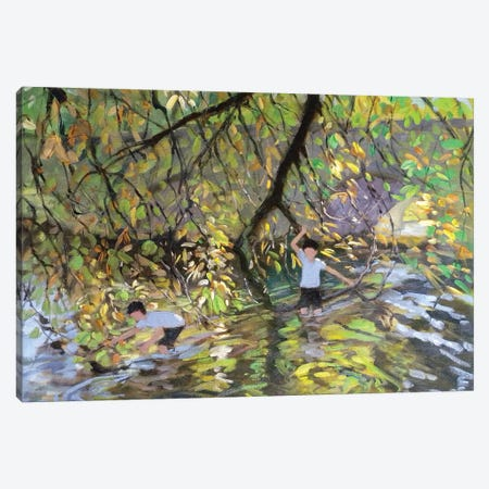 River Wye 3-Piece Canvas #BMN9052} by Andrew Macara Canvas Artwork