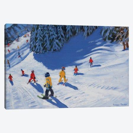 Ski School, Morzine Canvas Print #BMN9054} by Andrew Macara Canvas Art Print