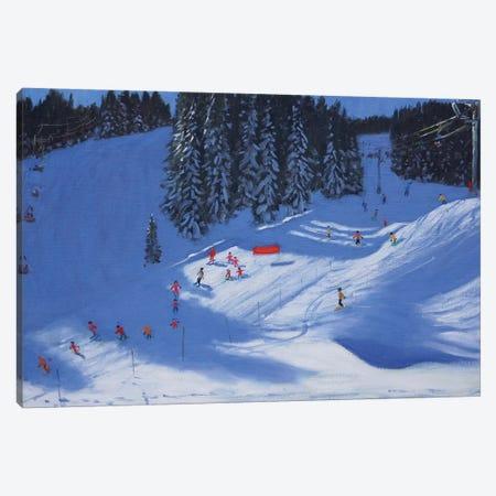 Ski School, Morzine Canvas Print #BMN9055} by Andrew Macara Canvas Art Print