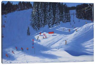 Ski School, Morzine Canvas Art Print