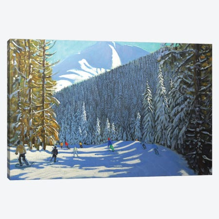 Skiing, Beauregard La Clusaz Canvas Print #BMN9058} by Andrew Macara Canvas Art