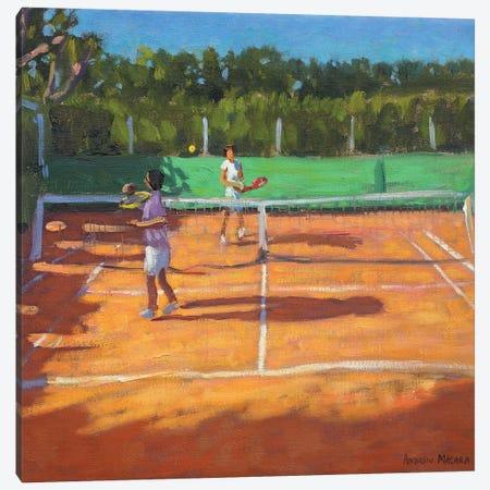 Tennis Practise, Cap d'Agde, France Canvas Print #BMN9063} by Andrew Macara Art Print