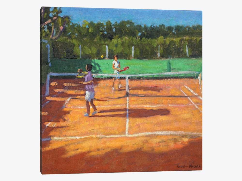 Tennis Practise, Cap d'Agde, France by Andrew Macara 1-piece Canvas Print