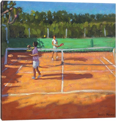 Tennis Practise, Cap d'Agde, France Canvas Art Print