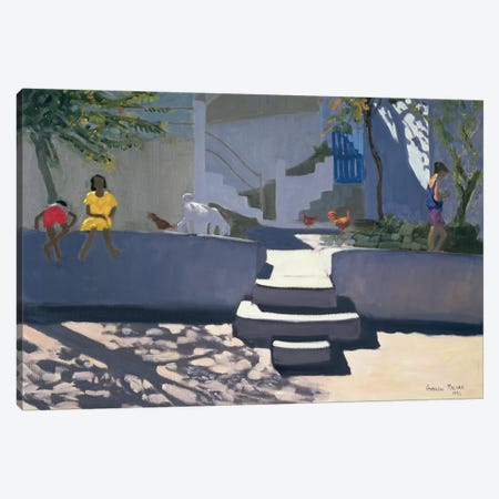 The Yellow Dress, Kos 3-Piece Canvas #BMN9066} by Andrew Macara Canvas Art