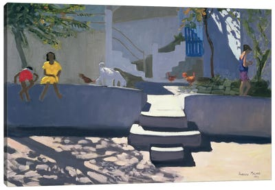 The Yellow Dress, Kos Canvas Art Print