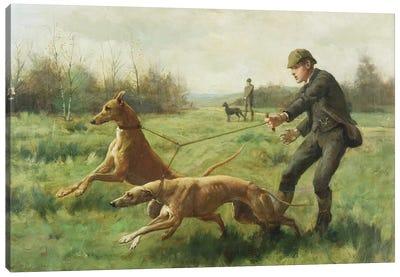 Exercising Greyhounds Canvas Art Print