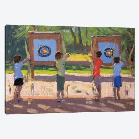 Young Archers Canvas Print #BMN9071} by Andrew Macara Canvas Wall Art