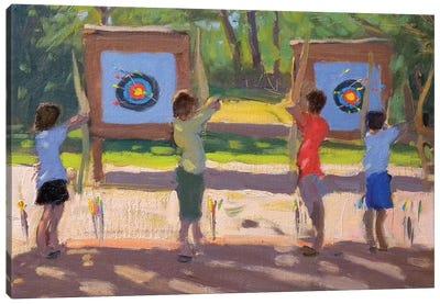 Young Archers Canvas Art Print