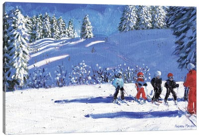 Young Skiers, Morzine, France Canvas Art Print
