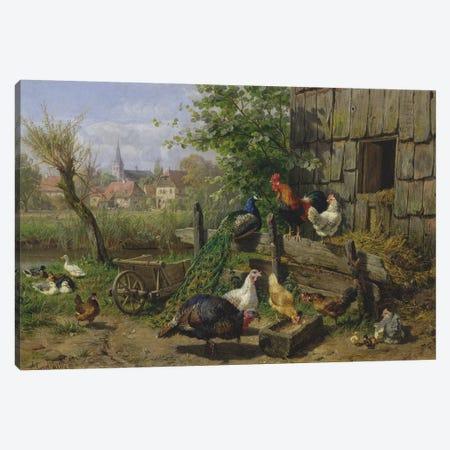 The Farmyard, 1898 Canvas Print #BMN9074} by Carl Jutz Canvas Print