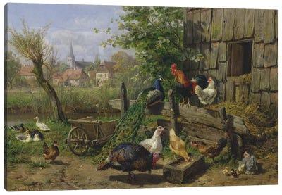 The Farmyard, 1898 Canvas Art Print