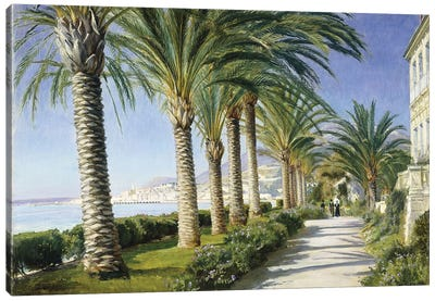 Monte Carlo, 1909 . Oil on canvas. Signed) Canvas Art Print