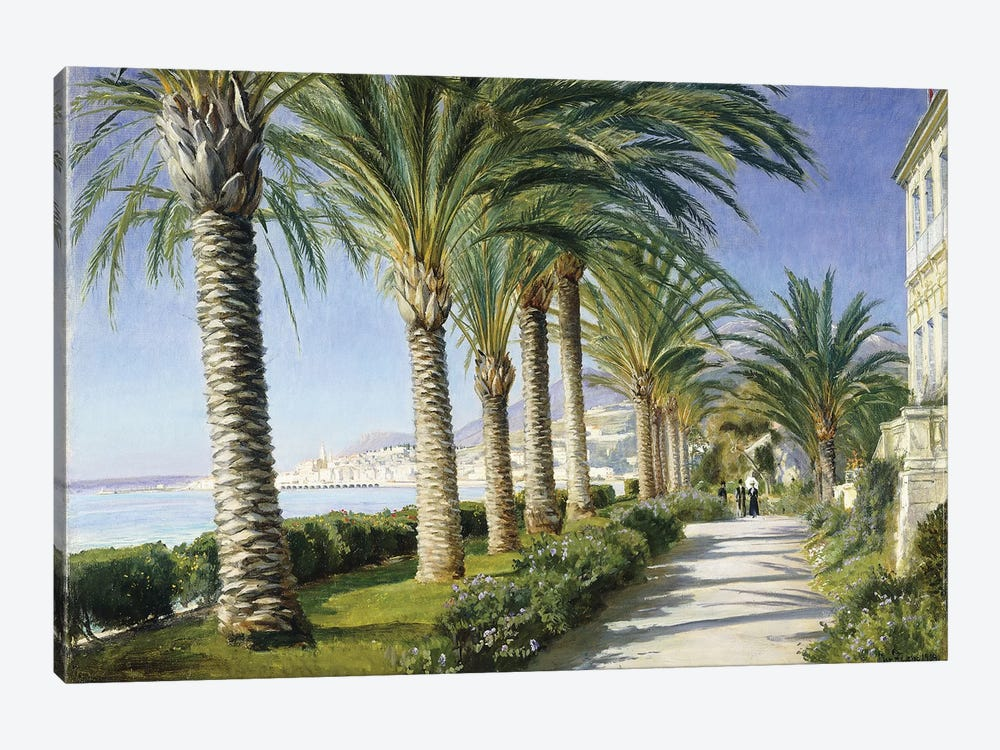 Monte Carlo, 1909 . Oil on canvas. Signed) by Christian Zacho 1-piece Canvas Art Print