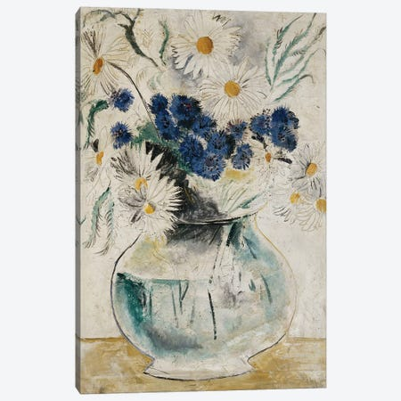 Daisies and Cornflowers in a Glass Bowl, 1927 Canvas Print #BMN9077} by Christopher Wood Art Print