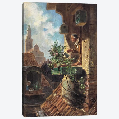 The Attic Room, 1862 Canvas Print #BMN9078} by Carl Spitzweg Canvas Wall Art