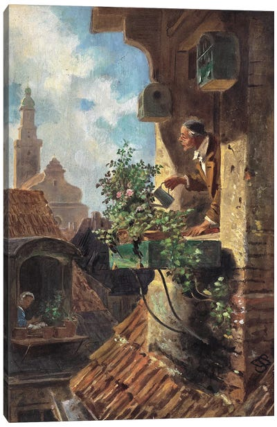 The Attic Room, 1862 Canvas Art Print