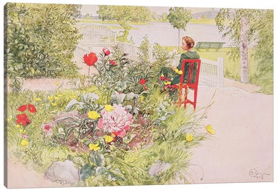 Summer in Sundborn, 1913, from a commercially printed portfolio, published in 1939 Canvas Art Print