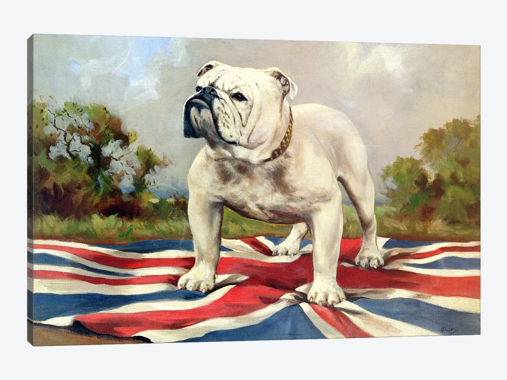 e8f8f2af35d British Bulldog by English School 1-piece Canvas Wall Art ...