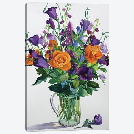 Orange and Purple Flowers Canvas Print #BMN9083} by Christopher Ryland Art Print