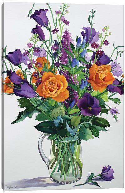 Orange and Purple Flowers Canvas Art Print