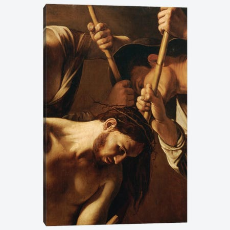 The Crowning with Thorns, c.1603 Canvas Print #BMN9084} by Michelangelo Merisi da Caravaggio Canvas Wall Art