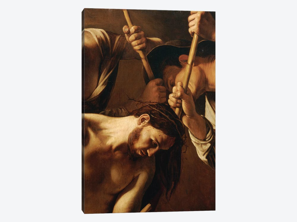 The Crowning with Thorns, c.1603 by Michelangelo Merisi da Caravaggio 1-piece Canvas Artwork