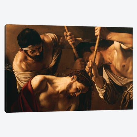 The Crowning with Thorns, c.1603 Canvas Print #BMN9085} by Michelangelo Merisi da Caravaggio Canvas Wall Art