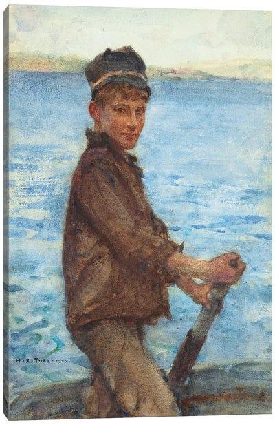 Steering the Punt, 1909 Canvas Art Print