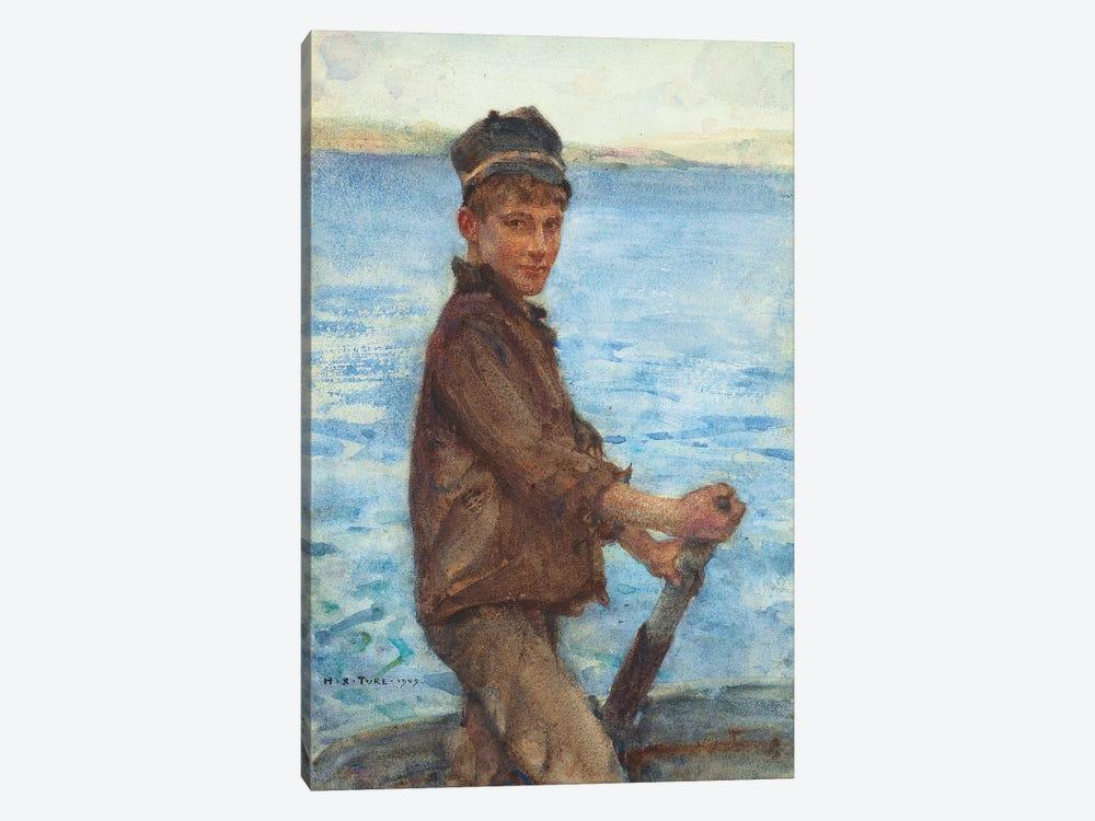 Steering the Punt, 1909 by Henry Scott Tuke 1-piece Canvas Art