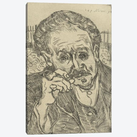Portrait of Dr Gachet, 1890 3-Piece Canvas #BMN9095} by Vincent van Gogh Art Print
