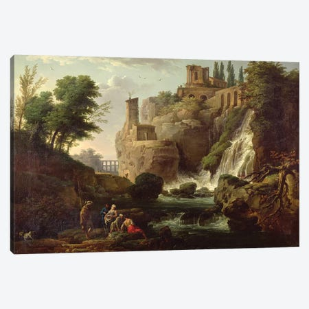 The Falls of Tivoli Canvas Print #BMN9099} by Claude Joseph Vernet Canvas Wall Art