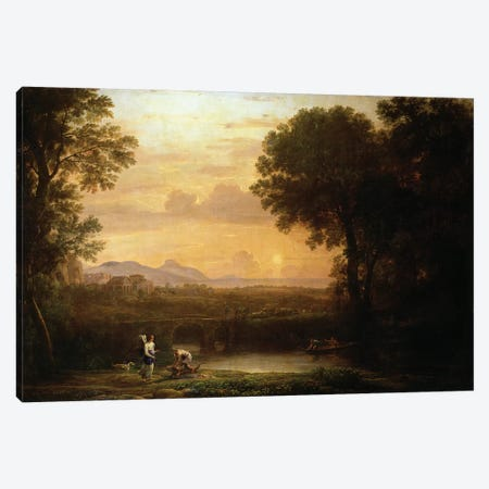 Landscape at Dusk Canvas Print #BMN909} by Claude Lorrain Art Print