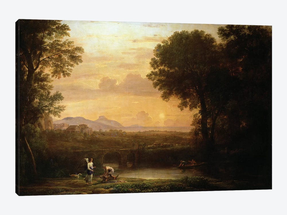 Landscape at Dusk by Claude Lorrain 1-piece Canvas Art