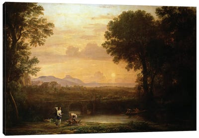 Landscape at Dusk Canvas Art Print